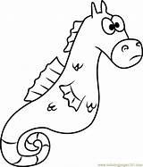 Seahorse Coloring Mystery Spongebob Pages Squarepants Coloringpages101 Cartoon Pdf sketch template