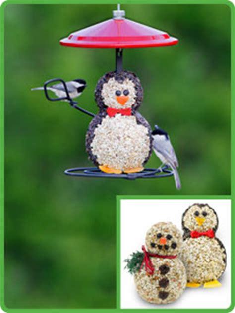 holiday penguin  snowman bird feeders