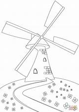 Coloring Windmill Hill Pages Printable Paper sketch template