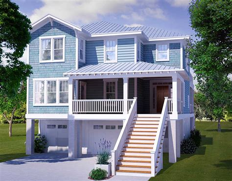bedroom beach house plan nc architectural designs house plans