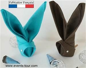 Pliage Serviette Lapin Simple : pliage de serviette lapin x1 ref 10052 ~ Melissatoandfro.com Idées de Décoration