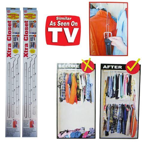 Closet Doubler by 2 Xtra Closet Rod Clothes Organizer Sturdy Chrome