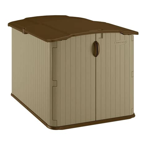 Suncast Glidetop Storage Shed by Suncast Glidetop 6 Ft 8 In X 4 Ft 10 In Resin Storage
