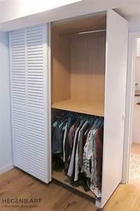placard sur mesure contemporain avec porte persienne by With porte d entrée alu avec accessoire salle de bain luxe design