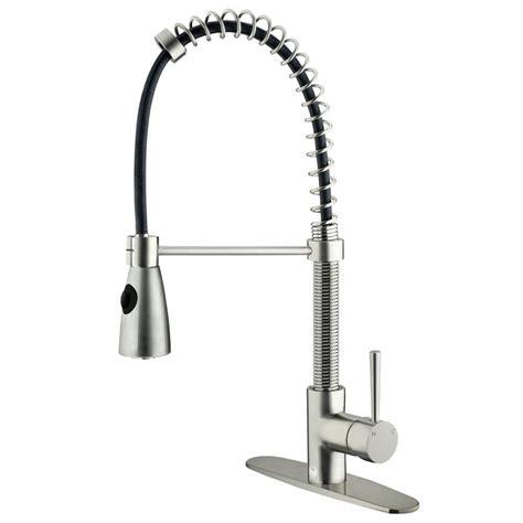 single handle kitchen faucet with sprayer vigo single handle pull sprayer kitchen faucet in
