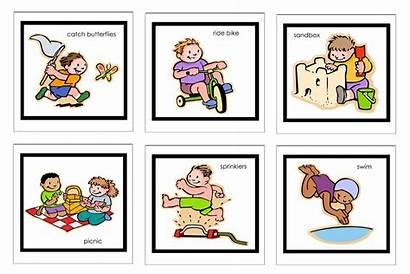 Schedule Clipart Routine Visual Toddler Bedtime Daily