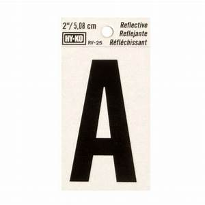 hy ko 2 in vinyl reflective letter a rv 25 a the home depot With reflective adhesive letters