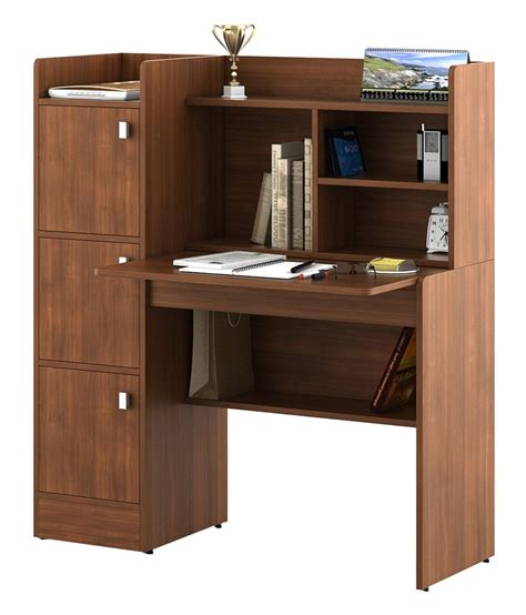 Kosmo Study Table in Brown - Buy Kosmo Study Table in