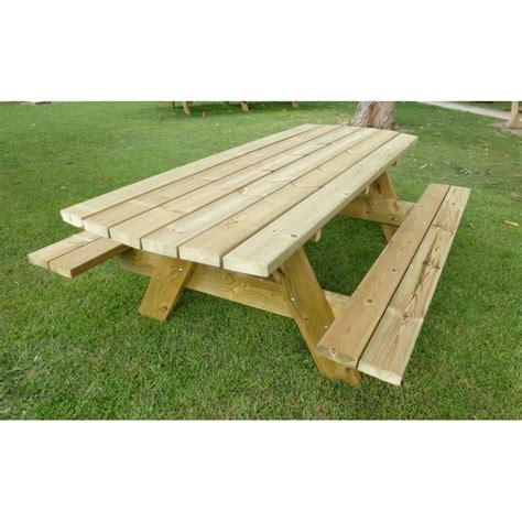 Table De Piquenique En Bois, Table Et Banc En Bois Pour