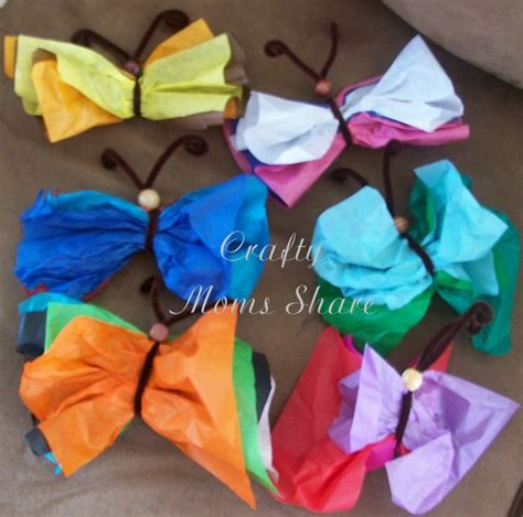 crepe paper butterflies crafts idea to butterflies out of