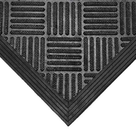 Black Rubber Doormat by Rubber Cal Dura Scraper Checkered 60 In X 36 In Black