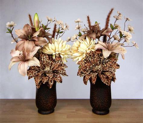 pair of safari theme silk floral by rachelsheart on etsy