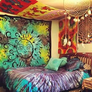 Dress: hippie, tapestry, tumblr bedroom, bedding, tie dye