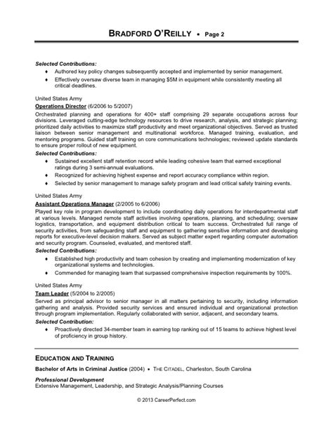 military to civilian conversion sle resume for