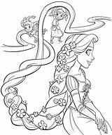 Princess Coloring Pages Rapunzel Tangled sketch template