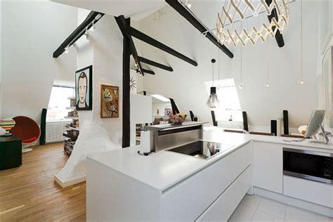 stylish stockholm loft  classic scandinavian interior