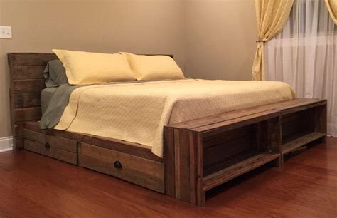 superb king size captains bed bed design diy pallet bed
