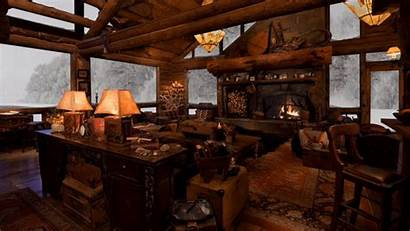 Fireplace Winter Fire Cabin Cozy Snow Crackling