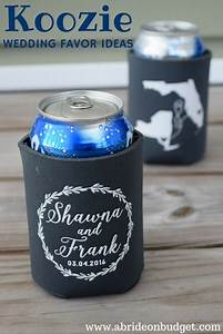 koozie wedding favor ideas a bride on a budget With beer koozie wedding favors
