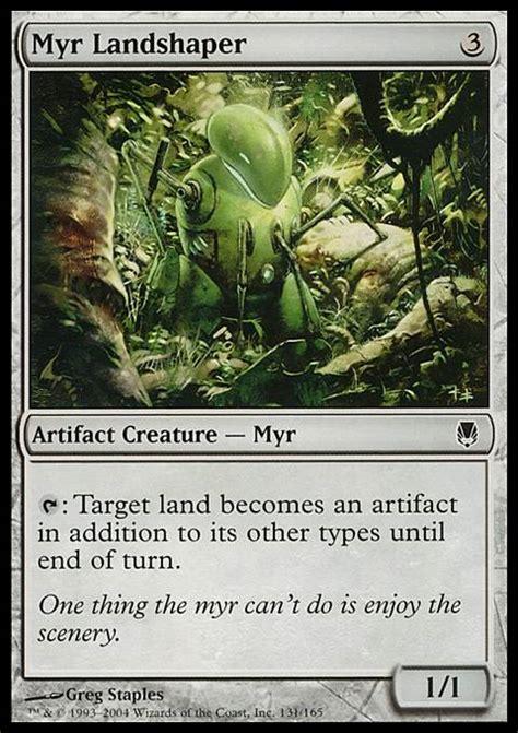 Mtg Myr Deck Tappedout by Myr Landshaper Dst Mtg Card