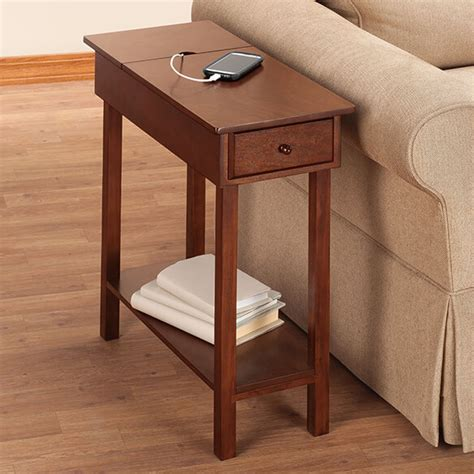 chairside table with usb power by oakridge accents