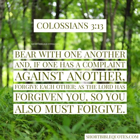 A good friend is a blessing from god. Bible Verse About Family -Colossians 3:13 - Short Bible Quotes
