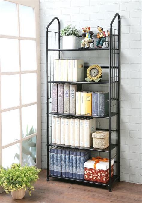 5 Ft Bookshelf by Unbrand Ft 597bk 5 Black 5 Tier Metal Bookshelf Rack