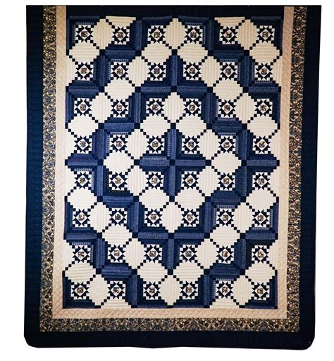stars in log cabin amish quilt