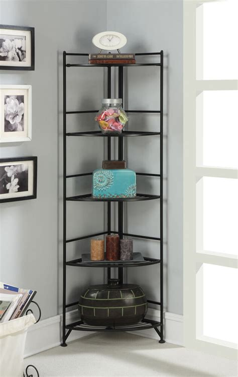 convenience concepts  tier folding metal corner shelf