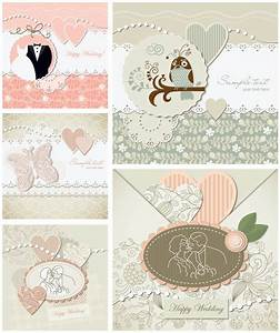 Decorative wedding invitations vector | Vector Graphics Blog