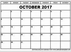 October 2017 Calendar Cute 2018 calendar printable