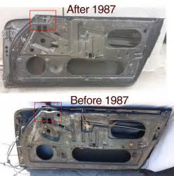 porsche before and after 964 door on early 911 pelican parts technical bbs