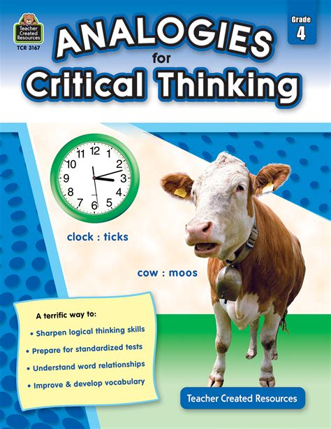 analogies for critical thinking grade 4 tcr3167