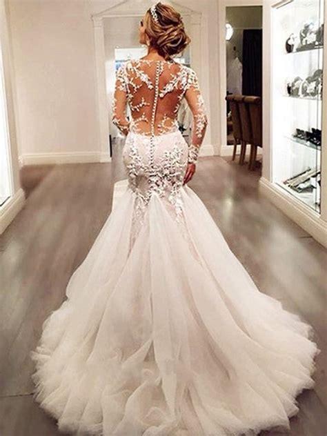 trumpet mermaid wedding dresses cheap mermaid style