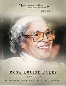 Program Of Rosa Parks Funeral - bureaufreeware