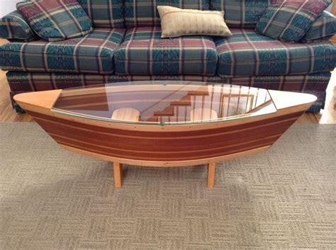 canoe coffee table boat shelf ft canoe shaped coffee sofa