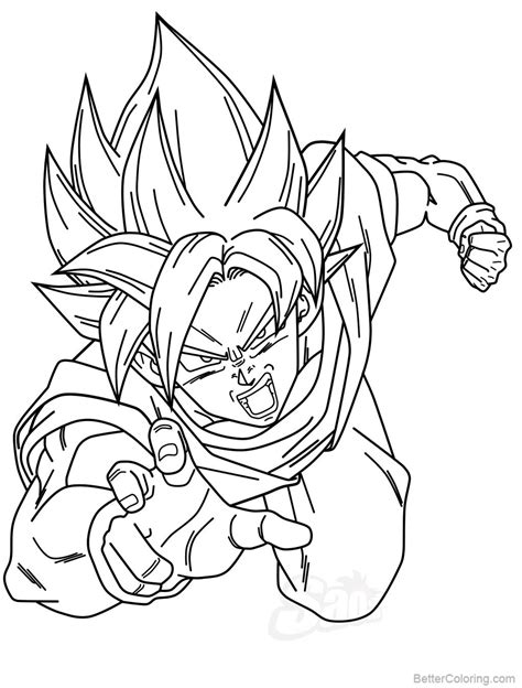 baby vegeta pages coloring pages