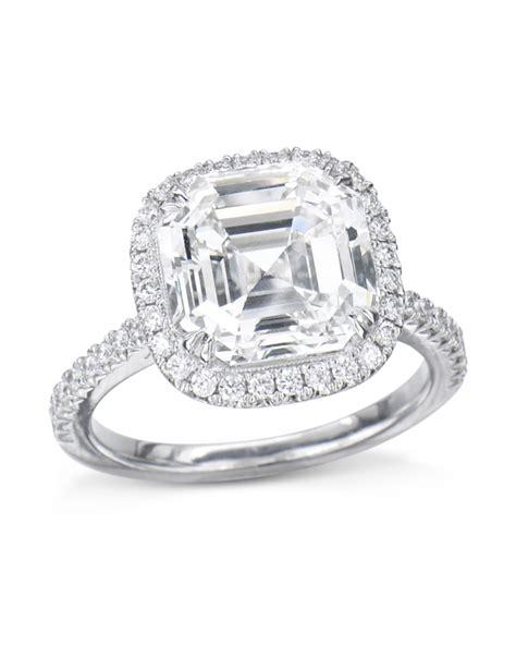 asscher cut diamond halo engagement ring turgeon raine