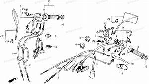 Honda Motorcycle 1986 Oem Parts Diagram For Handle Switch