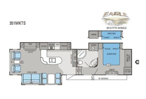 2012 Jayco 5th Wheel Floor Plans 2012 jayco eagle 351mkts fifth wheel cincinnati oh