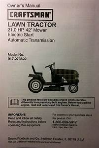 Sears Craftsman Lt1000 Lawn Riding Tractor  U0026 Mower Owner