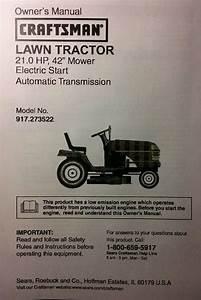 Sears Craftsman Lt1000 Lawn Riding Tractor  U0026 Mower Owner