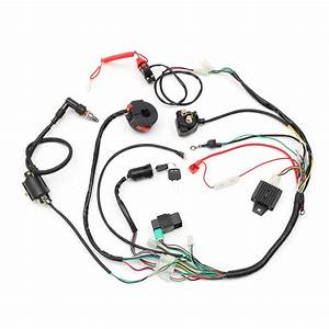 Wiring Harness Loom Solenoid Coil Rectifier Cdi 50cc 70cc