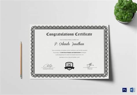 certificate templates sample templates