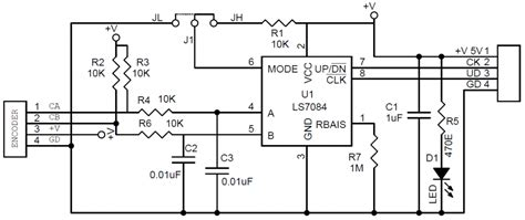 Cmos Ttl Quadrature Encoder Using Electronics Lab