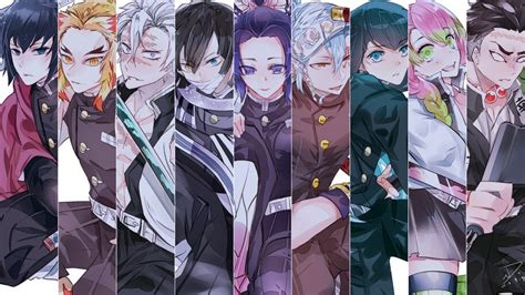 pillars kimetsu  yaiba members   wallpaper