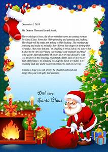 letter from santa claus virginia39s personalized books With my letter to santa claus