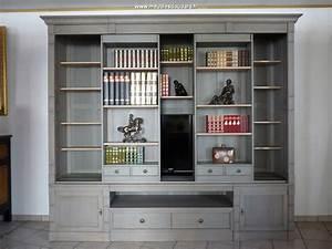 Meuble Bibliothèque Bois : biblioth que pour tv biblioth que tv directoire en bois massif meuble tv biblioth que en bois ~ Teatrodelosmanantiales.com Idées de Décoration