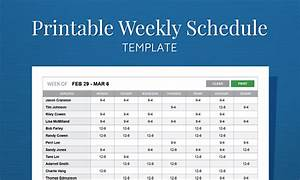 Free printable work schedule template for employee for Microsoft office weekly schedule template