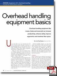 equipment 101 overhead handling equipment basics modern With pdf document overhead